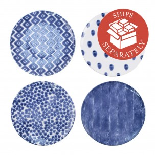 Santorini Assorted Dinner Plates - Set of 4 - Vietri | Eataly.com