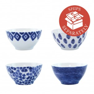 Santorini Assorted Cereal Bowls - Set of 4 - Vietri | Eataly.com