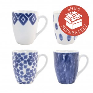 Santorini Assorted Mugs - Set of 4 - Vietri | Eataly.com